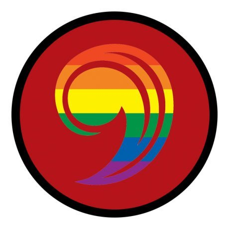 UCC logo in rainbow colors