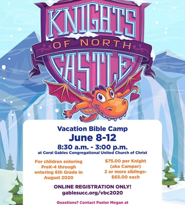 Vacation Bible Camp 2020 Knights of North Castle Flyer
